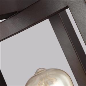 Feiss Finnegan Collection 8-in x 13-in Bronze Mini Pendant Light