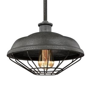 Feiss Lennex Collection 12-in x 9-in Grey Mini Pendant Light