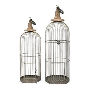 IMAX Worldwide Lenore Iron Poplar Bird Cages (Set Of 2)