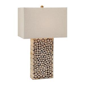 IMAX Worldwide Cynder Wood Table Lamp