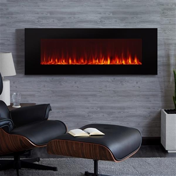 Real Flame Dinatale Wall Mounted Electric Fireplace 17 8 X 50 Black Lowe S Canada