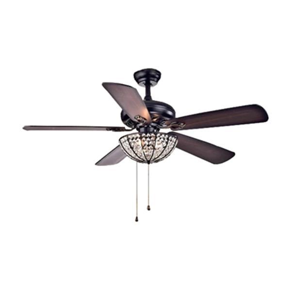 Warehouse Of Tiffany Hannele 52 In Black 3 Light Ceiling Fan Lowe S Canada
