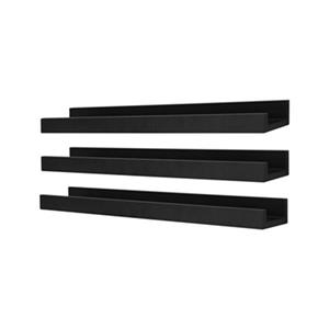 Nexxt Designs 23-in x 4-in Black Edge Picture Frame Ledge Shelf (Set of 3)