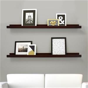 Nexxt Designs Espresso Edge Picture Frame Ledge Shelf (Set of 2)