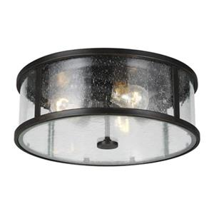 Feiss Dakota Brown 3-Light Outdoor Flush Mount Light