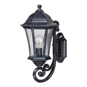 Cascadia Aberdeen Aluminum 1-Light Black Outdoor Wall Lantern