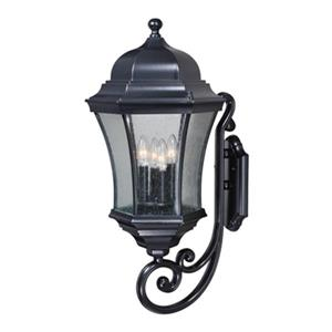Cascadia Aberdeen Aluminum 4-Light Black Outdoor Wall Lantern