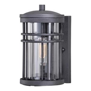 Cascadia Wrightwood 1-Light Dusk to Dawn Black Outdoor Wall Lantern