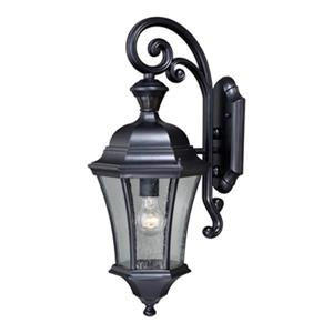 Cascadia Aberdeen Dualux Black Motion Sensor Dusk to Dawn Outdoor Wall Light