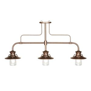 RAM Game Room Products 60-in x 23-in Copper 3-Light Billiard Light