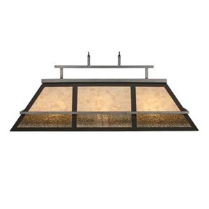 RAM Game Room Products 44-in x 18-in Gold 3-Light Billiard Light