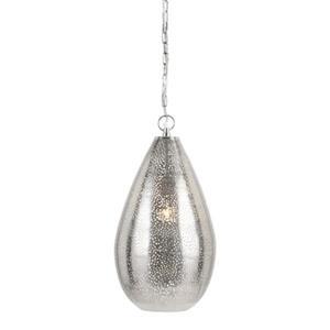 IMAX Worldwide Trisha Yearwood Collection 11-in x 20.5-in Silver Jago Teardrop Mini Pendant Light