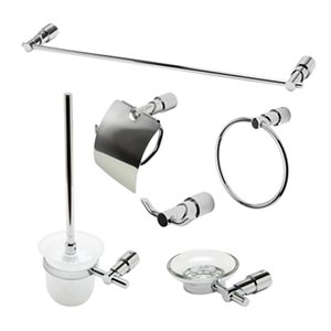 ALFI Brand 6-Piece Chrome Bathroom Accessory Set