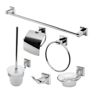 ALFI Brand 6-Piece Chrome Bathroom Accessory Set