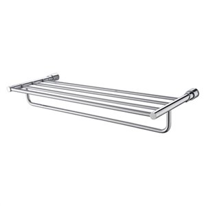ALFI Brand 24-in Polished Chrome Towel Bar and Shelf