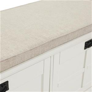 Crosley Furniture Adler White Entryway Storage Bench