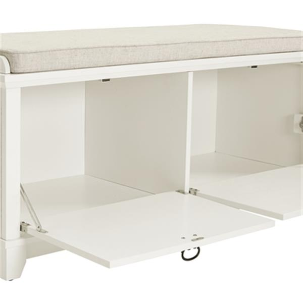 Fabulous Crosley Furniture Adler White Entryway Storage Bench Cjindustries Chair Design For Home Cjindustriesco