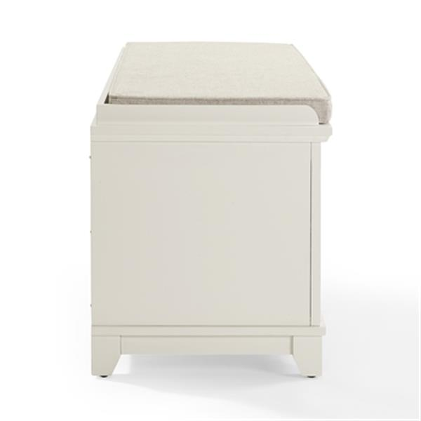 Brilliant Crosley Furniture Adler White Entryway Storage Bench Cjindustries Chair Design For Home Cjindustriesco