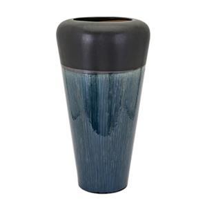 IMAX Worldwide Hudson 23-in Blue Oversized Vase