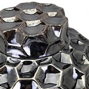 IMAX Worldwide Nagla Ceramic Gunmetal Lidded Container
