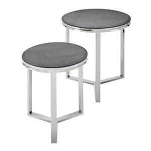 IMAX Worldwide Meeda Stainless Steel Tables (Set of 2)