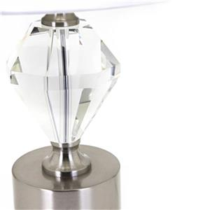 IMAX Worldwide Draco Brushed Aluminum Crystal Table Lamp