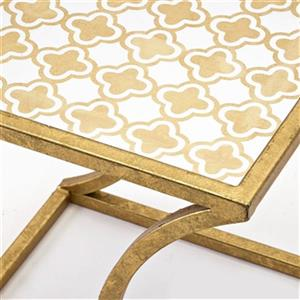 IMAX Worldwide Abdi Gold Nesting Tables (Set of 3)
