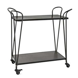 IMAX Worldwide 31-in x 17-in Grey Meyer Bar Cart