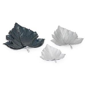 IMAX Worldwide Macee Enamel Decorative Leaf Trays (Set of 3)