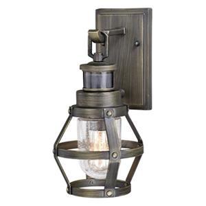 Cascadia Bruges Dualux 1-Light Bronze Motion Sensor Dusk to Dawn Wall Light
