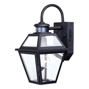Cascadia Nottingham Dualux Black Motion Sensor Dusk to Dawn Outdoor Wall Light