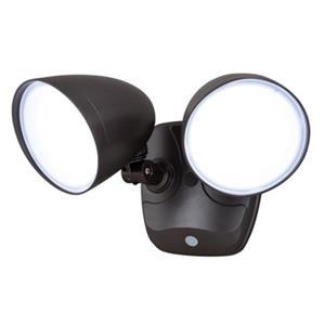 Tau 2-Head LED Security Light with Photocell