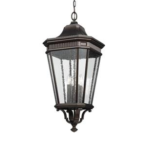 Feiss Cotswold Lane Collection 13.62-in x 31-in Grecian Bronze 4-Light Lantern Pendant Light
