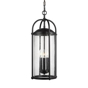 Feiss Dakota Collection 9.5-in x 23-in Brown 3-Light Lantern Pendant Light