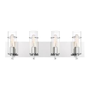 Eurofase Lighting Pista Chrome 4-Light Bathroom Vanity Light