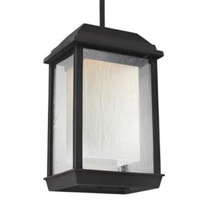 Feiss McHenry Collection 6.5-in Textured Black LED Pendant Light