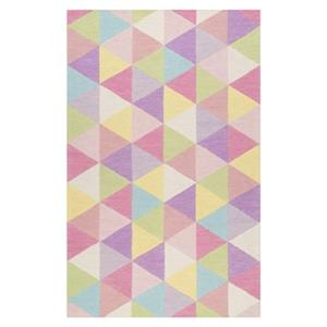 Hand Hooked Anderson Pink Kids Rug