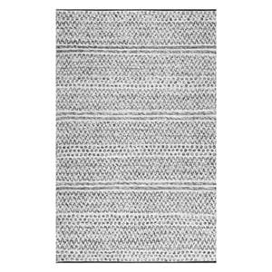 nuLOOM Natosha Chevron Striped Silver Indoor/Outdoor Rug,VEM