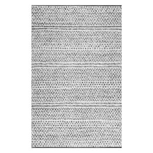 nuLOOM Natosha Chevron 8-ft x 10-ft Striped Silver Indoor/Outdoor Rug