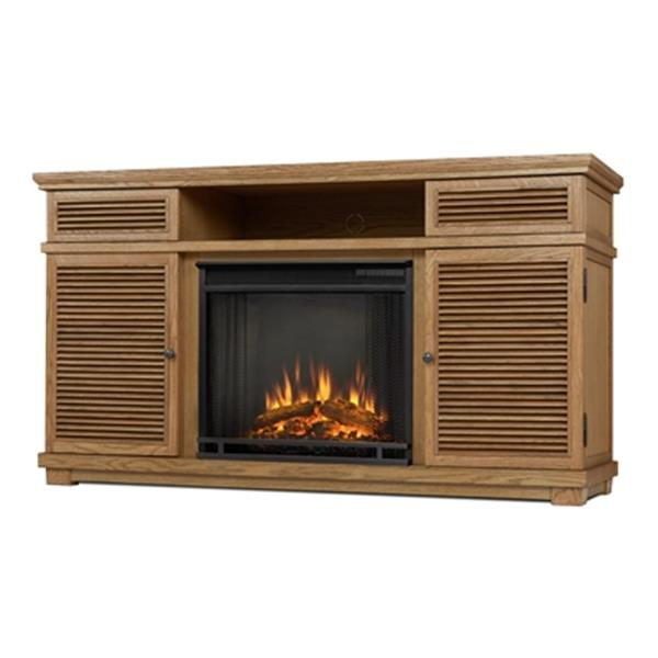 Magnificent Real Flame Cavallo 32 25 In X 58 81 In Brown Entertainment Center Electric Fireplace Home Remodeling Inspirations Genioncuboardxyz