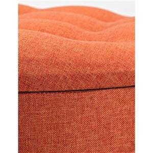 IMAX Worldwide Rylee Orange Ottoman