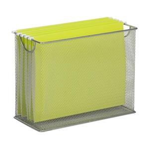 Honey Can Do 9.88-in x 1.48-in Grey Mesh Tabletop File Folder Holder