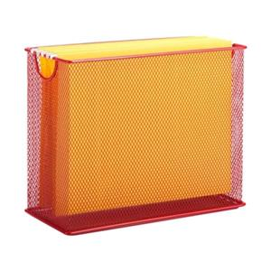 Honey Can Do 9.88-in x 1.48-in Red Mesh Table Top File Holdder