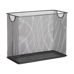 Honey Can Do 9.88-in x 1.48-in Black Mesh Table Top File Holdder