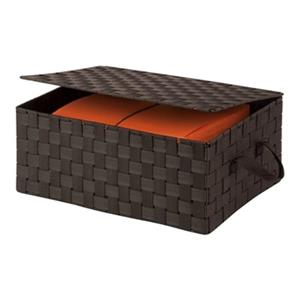 Honey Can Do 7.00-in x 1.89-in Espresso Box with Hinged Lid