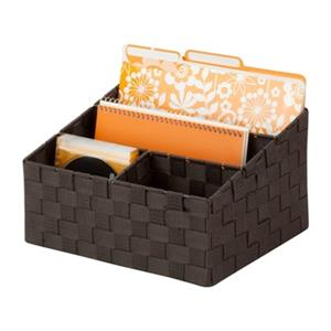 Honey Can Do 7-in x 1.37-in Espresso Mail Desk Organizer