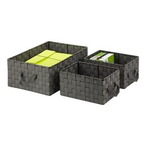 Honey Can Do 7-in x 3-in Black Stacking Baskets