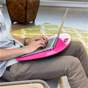 Honey Can Do 3.17-in x 2.52-in Pink Portable Laptop Desk With Built-In Handle