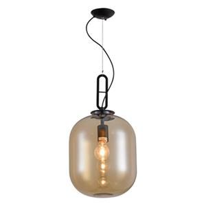 Design Living 10.5-in Matte Black Brown Shade Single Mini Pendant Light