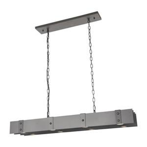 Bethel International Kitchen Island Iron Lighting 8-Light Chandelier